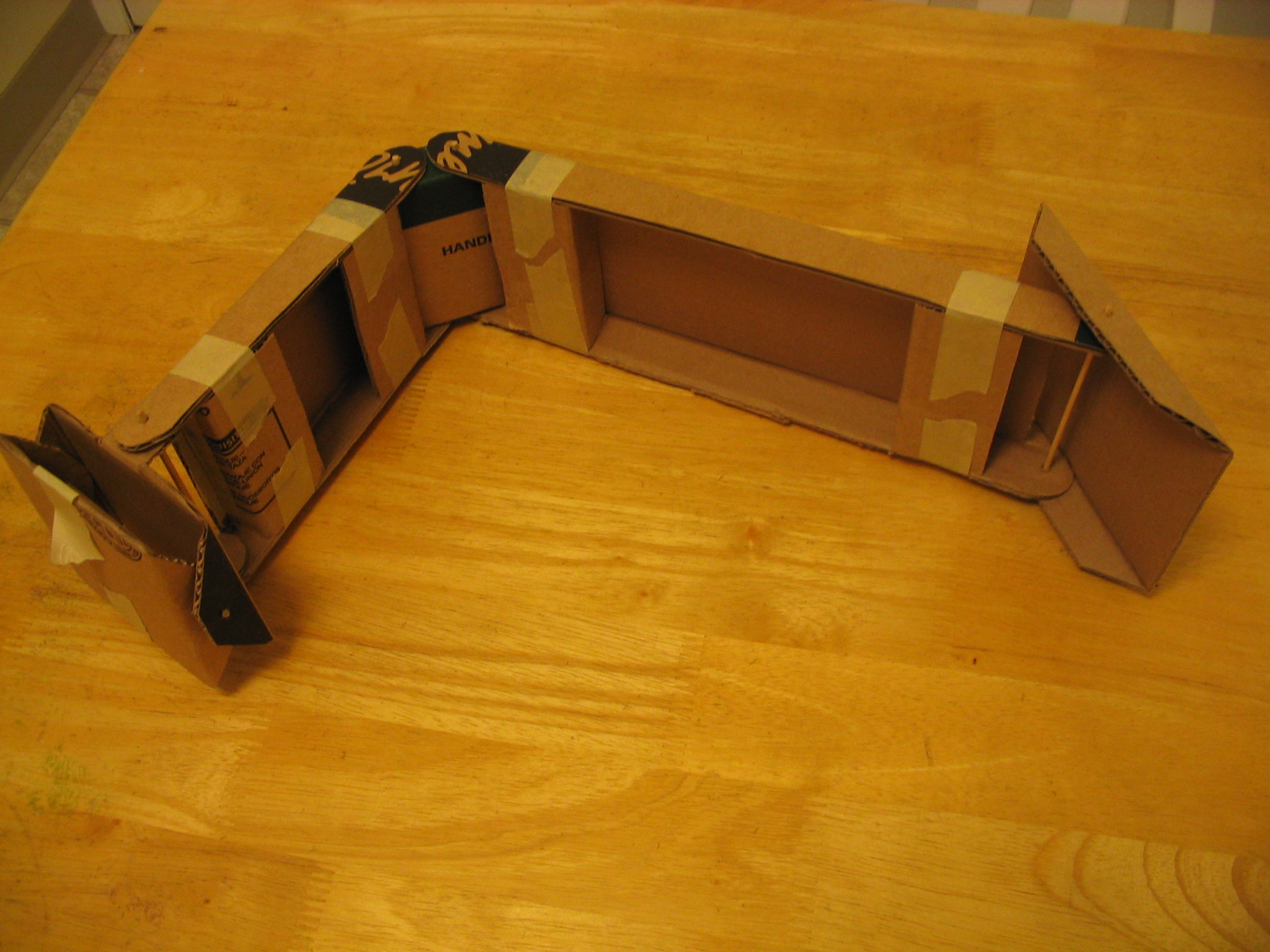 Second refined cardboard arm
