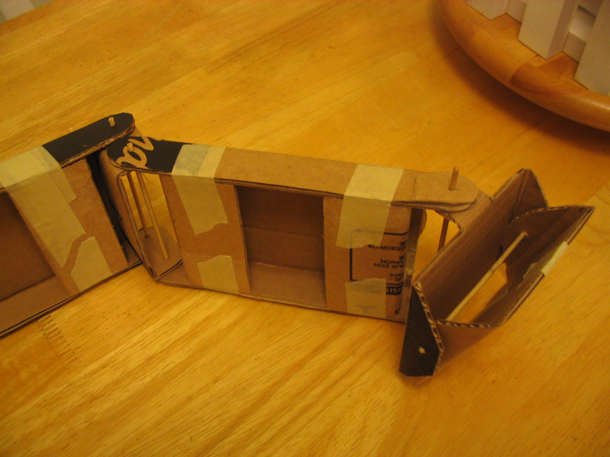 Second cardboard arm