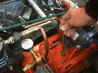Compressor with new pipe, comparing to old pipe