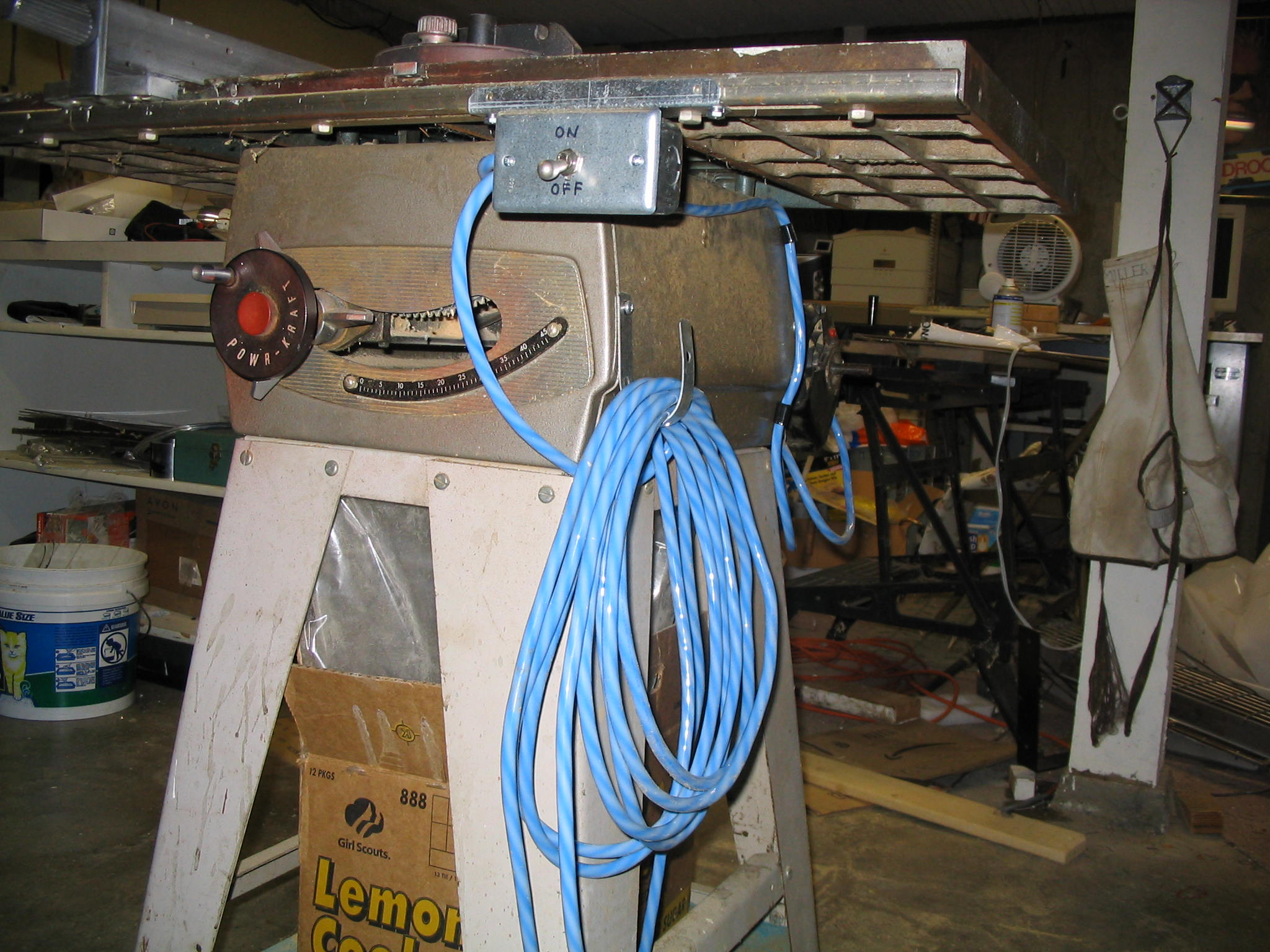 Tablesaw wiring repair bolis new switch and wiring greentooth Choice Image