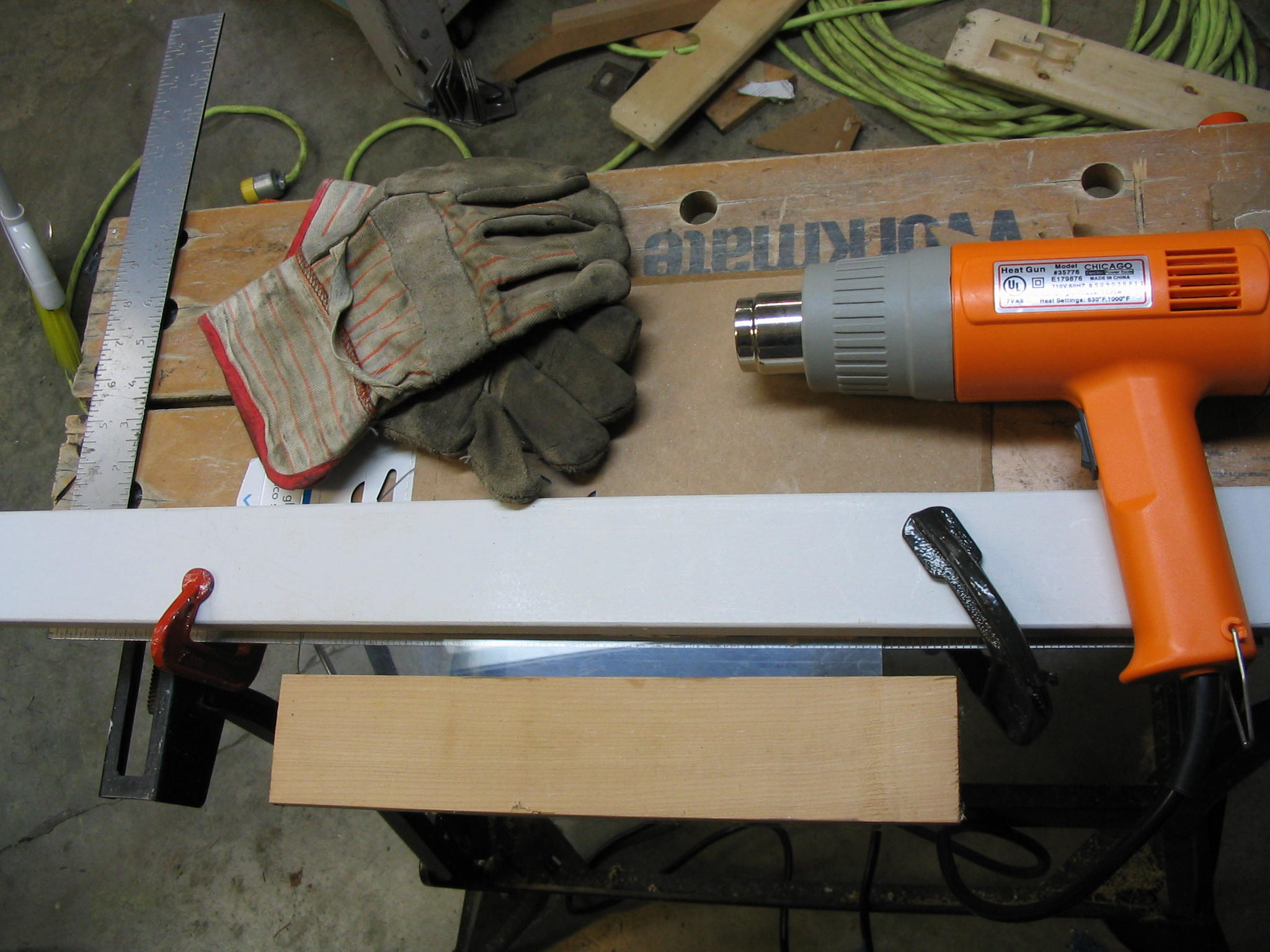 Heat gun for bending