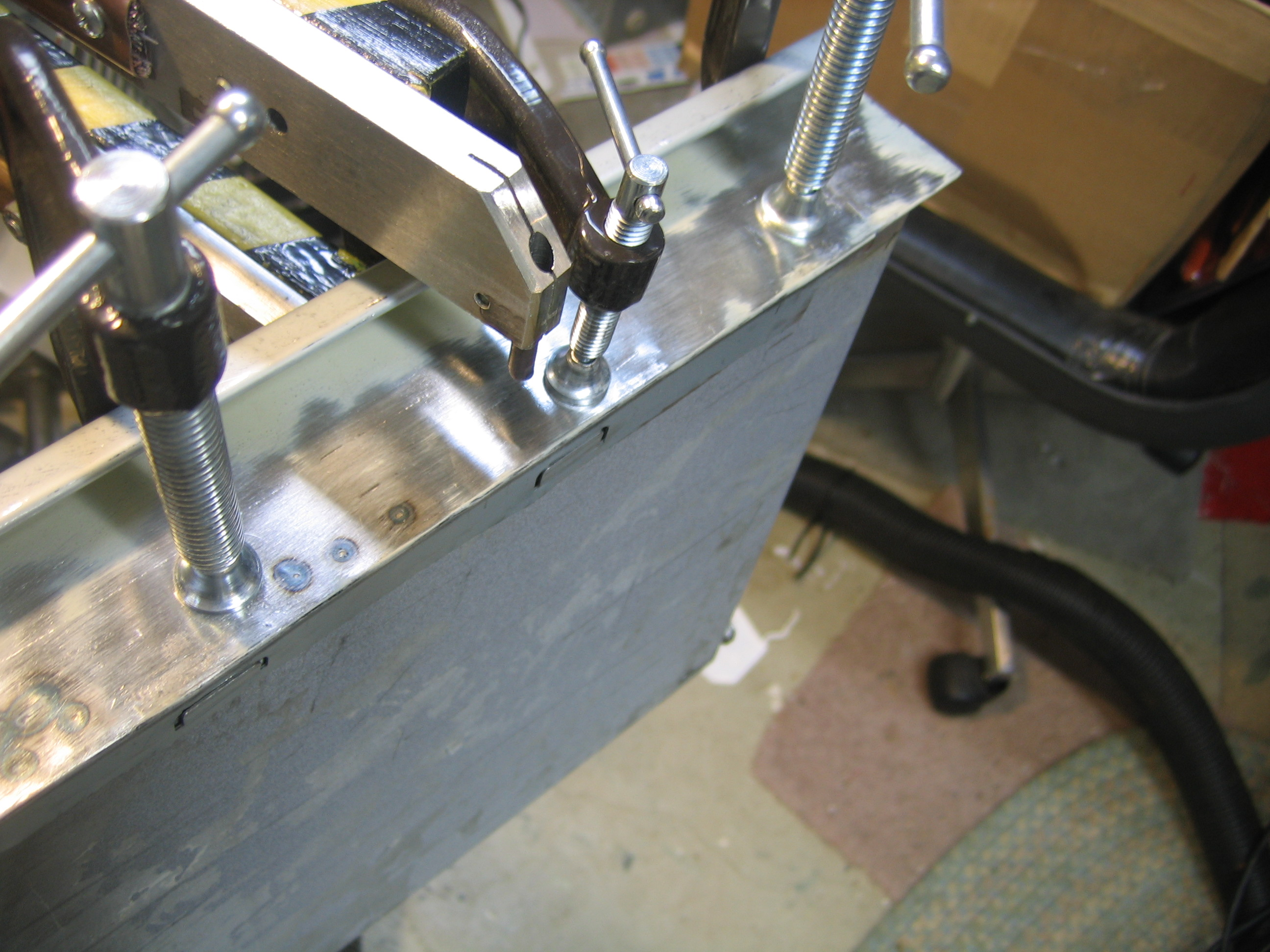 welding the drawer front